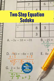 students will have a great time practicing two step equations with these sodoku puzzles one with only whole numbers one with integers