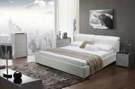 White modern platform bed Unique Platform Cameron Offwhite Modern Platform Bed Sobe Furniture Cameron Offwhite Modern Platform Bed Contemporary Beds