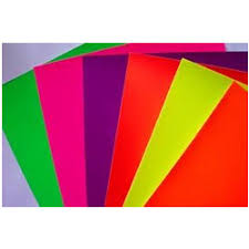 Red Colour Chart Paper Fluorescent Paper Coated Paper Aboupur Road Ghaziabad