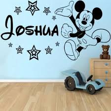 personalised mickey mouse wall sticker