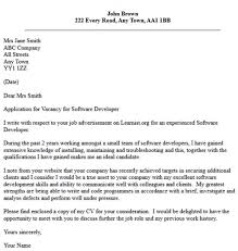 Cover Letter For Experienced Software Engineer Get Software Developer Cover Letter Letters Font Document And