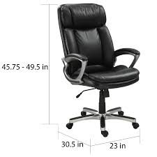 serta executive smooth black puresoft faux leather big and tall office chair free today com 16271183