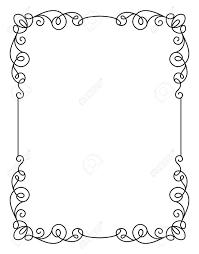 Basic Invitation Template Calligraphic Rectangle Frame Simple Frame Ornament Decorative