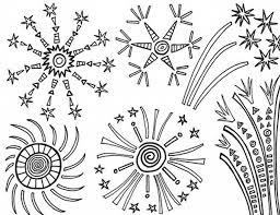Small Picture Amazing 4th of July Fireworks Coloring Page Download Print