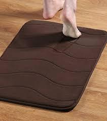 memory foam bath mats non slip bathroom rugs water absorbent fast dry soft waved