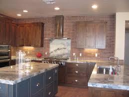 Kitchen Backsplash Red White Kitchen Cabinets With Red Brick Backsplash Cliff Kitchen