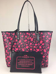 ... coach city reversible ruby pink midnight pvc tote tradesy