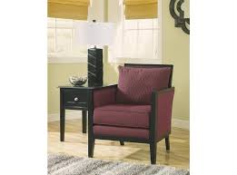 cool wooden accent chair with small black table