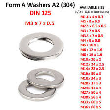 m3 form 3mm m3 form a flat washers a2 304 stainless steel washer din 125 ebay