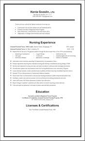 New Grad Nursing Resume Template Musiccityspiritsandcocktail Com
