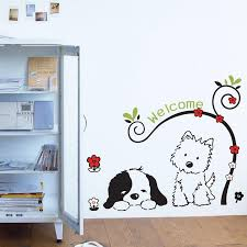 welcome wall decal sticker home decor diy removable art vinyl mural for kids room background hallway study room qtb89 cartoon ladybug wall decals large