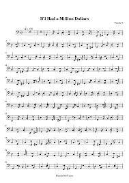 if i had a million dollars sheet music if i had a million next page