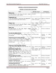 Silver Acid Test Color Chart Pdf Pharmacognosy Chemical Tests Swathi Chinthapatla