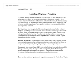 local and national provision uk a level physical education  document image preview