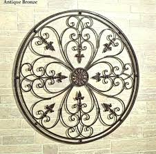 antique wrought iron wall decor large wrought iron wall art rod iron wall art outdoor circle