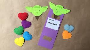diy yoda bookmark valentines