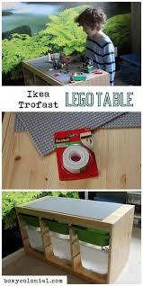 kids craft diy ikea trofast lego play table