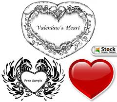 valentine decorative hearts free vector