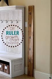 Easy Diy Ruler Growth Chart Home Crafts Easy Diy Diy