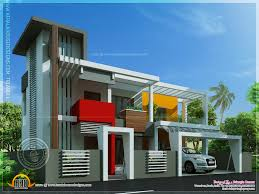 contemporary house unique design indian plans