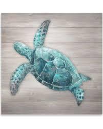 sea turtle wood slat wall art