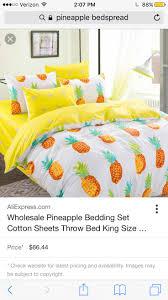 Pineapple yellow glow bedding set by La karolla Specifics Fabric Density  130 * 70 TechnicsDiagonal Printing Application feet) FillingNone TypeDuvet  Cover ...
