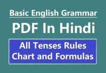 Tense Formula Chart In Hindi Pdf Download Wren And Martin English Grammar Pdf In Hindi Free Download