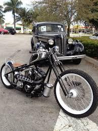 rigid frame springer front end motorcycles pinterest