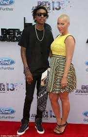 amber rose and wiz khalifa wedding pictures. amber rose - wiz khalifa-release wedding images while celebrating their 1st anniversary and khalifa pictures l
