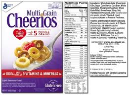 multigrain cheerios nutrition label world of label inside cheerios nutrition label 19747