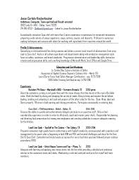 Free Resume Builder Australia Chef Resume Sample Chef Resume