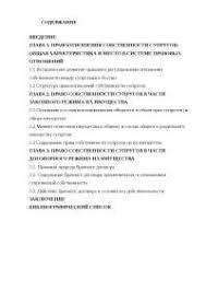 Право собственности супругов в части законного и договорного  Право собственности супругов в части законного и договорного режима их имущества диплом 2010 по теории государства