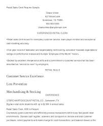 Sample Resume For Retail Best of Resume For Retail Stores Store Manager Sample Sales Clothing