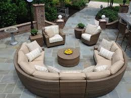 Popular Avrim Patio Sectional Sofa Set Tropical Patio Furniture Outdoor Patio Furniture Sectionals