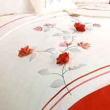 lifestyle francesca 3d flower petal embroidered duvet cover