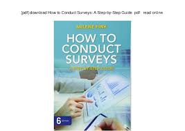 Surveys Download Pdf Download How To Conduct Surveys A Step By Step Guide Pdf Re