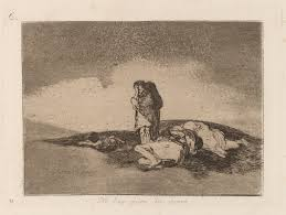 francisco goya there is no one to help them disasters of war series aquatint c 1810 printmaking is the process of making