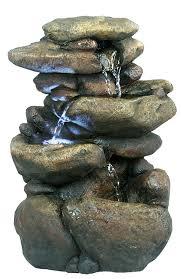 Indoor Rock Garden Amazoncom Alpine Win472 3 Tier Rock Fountain With Led Light