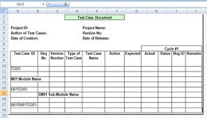 Project Management Test Case Template Excel Xls Microsoft Project