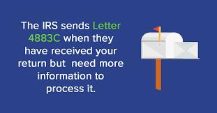 irs letter 4883c federal tax return