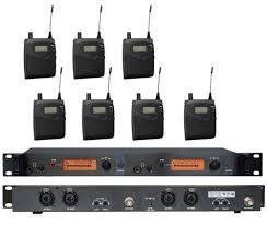 sound system wireless: sr wireless monitor system uhf in ear wireless headphones amp ear  receivers dj sound