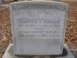 """Susan Harriet """"Hattie"""" Ratliff Bowman (1856-1934) - Find A Grave ..."""