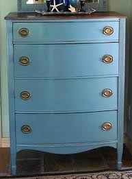 Renovating furniture ideas Basement Dresser With Different Shades Of Blue Paint Removeandreplacecom Easy Furniture Restoration Ideas Diy Refinishing Techniques
