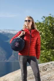 Lady Red Light Ultra Light Down Jacket W Hood Lady Red Scandinavian