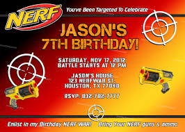 Design Your Own Birthday Party Invitations Nerf Birthday Party Invitations To Get Ideas How To Make Your Own