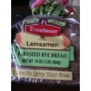 Dimpflmeier Leinsamen Flaxseed Rye Bread Calories Nutrition