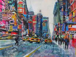 urban painting heading uptown nyc by patti mollica