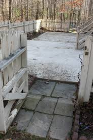 slate concrete patio makeover slate concrete patio makeover