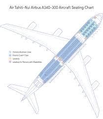 A343 Jet Seating Chart Seat Map Air Tahiti Nui