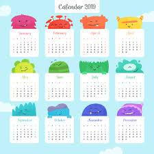 Calendar Year 2019 Printable Free Printable 2019 Calendar Calendar 2019